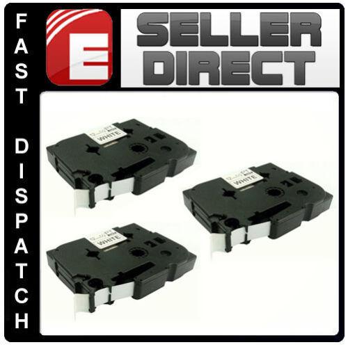 3 x Brother Compatible TZ231 P-Touch PT9400 PT9500PC PT9600 PT9700 PT9800 Tape