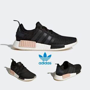 [Adidas] CQ2011 NMD R1 Primeknit Originals Running Shoes Black