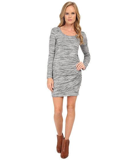 Splendid Brushed Tri Blend Long Sleeve Ruched Dress - Medium - MSRP  148