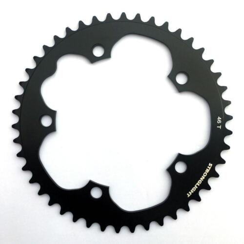 Stronglight Dural 5083 9//10 Speed Chainring130mm BCDBlackAll Sizes
