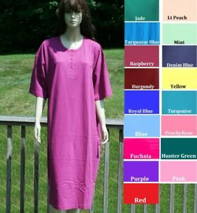 PLUS SIZE ASSORTED COLORS BIG SLEEP SHIRT ONE SIZE FITS MOST (3X-5XL ... 0165c9b01