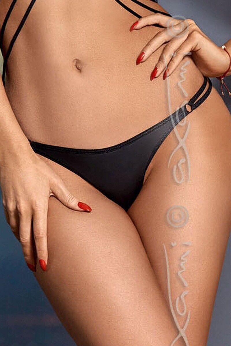 AXAMI Sexy schwarzer String V-8338 Dessous Tanga Gr. S M L XL