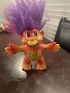 Yellow Red Land Of The Trolls Trendmasters Inc Psychedelic Troll W Purple Hair Ebay