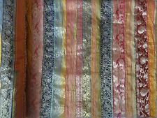 Indian Silk Sari Patchwork Bedspread Queen Vintage Throw Bedding Handmade Decor