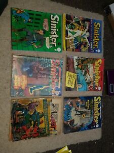 Amazing Stories Sinister Tales set of 5 comics 167 184 187 189 190 and 78 ripped