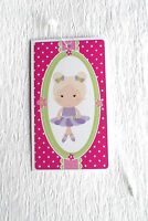 100 Hang Tags Accessories Tags Cute Little Girl Retail Tags Plastic Loops