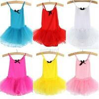 2-7Y Kids Girls Nice Party Ballet Costume Tutu Dance Skate Dress Leotard Skirts