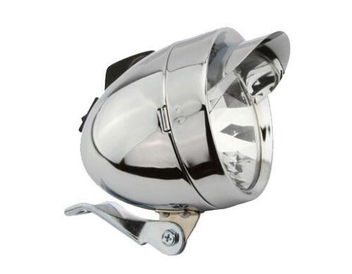 NEW!!Bicycle Bike  LOWRIDER Bullet Light W//Visor 2//Bulb 4150 Chrome