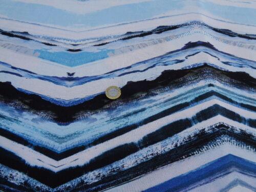 dress fabric per metre Viscose /& Elastane Printed Jersey /'Winter Stripes/',