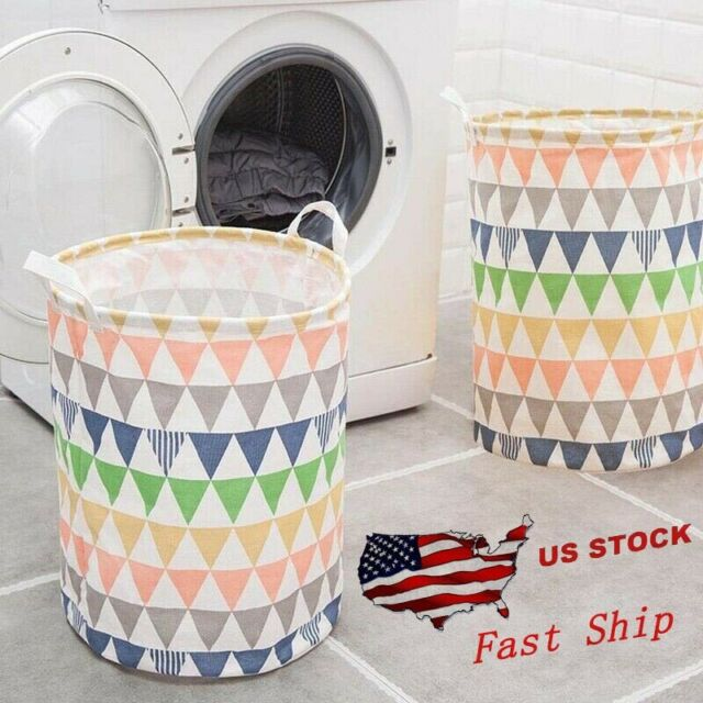 Collaspable Tall Plastic Dirty Laundry Basket Storage for Women 2 Laundry Basket Foldable White EddHomes Laundry Basket Collapsible Large Hanging Laundry Hamper Basket with Handles for College Dorm