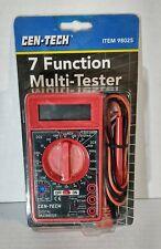 Cen Tech 7 Function Digital Multi Tester Multimeter 98025 New