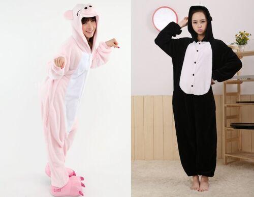 Pink Black  Pig Unisex Adult Kigurumi Pajamas Anime  Costume bodysuit Sleepwear