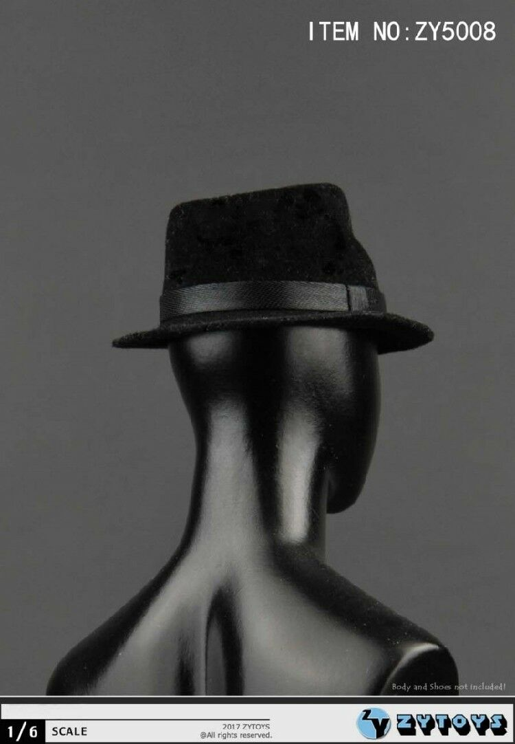 1//6 Scale Black Hat ZYTOYS ZY5008 For 12/'/' Action Figure