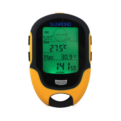 LCD Digital Altimeter Barometer Compass Thermometer Hygrometer Weather W5W8