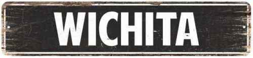 WICHITA Personalized Cities Metal Signs Home Decor Gift 4x18 104180004054