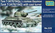 UM 369 T-34//76-57 Soviet tank with ZIS-4 gun 1//72