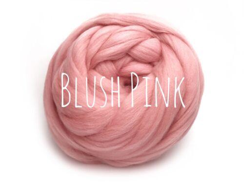 Hilo grueso Lana Jumbo Gigante De 100/% lana de punto extremo brazo Tejer Manta Rosa
