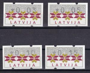 Aufrichtig Lettland 1994 Postfrisch Atm Minr Lettland Briefmarken 1 4 Werte Freimarke Nationale Ornamente Grade Produkte Nach QualitäT