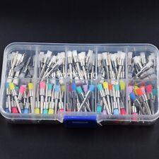 200 Pcs Dental Disposable Polisher Prophylaxis Polishing Brush Flat Latch Prophy