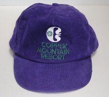 FREE SHIPPING - Vintage Purple Copper Mountain Colorado Corduroy Hat Cap