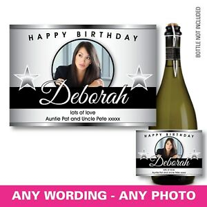 PERSONALISED-champagne-PROSECCO-photo-bottle-label-birthday-any-occasion-144