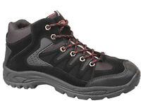Mens New Black Lace Up Hiking Trekking Walking Boot Size 6 7 8 9 10 11 12