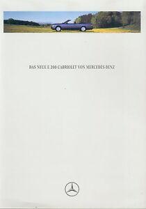 Mercedes-W-124-E-200-Cabriolet-Prospekt-1994-2-94-Autoprospekt-brochure-opuscolo