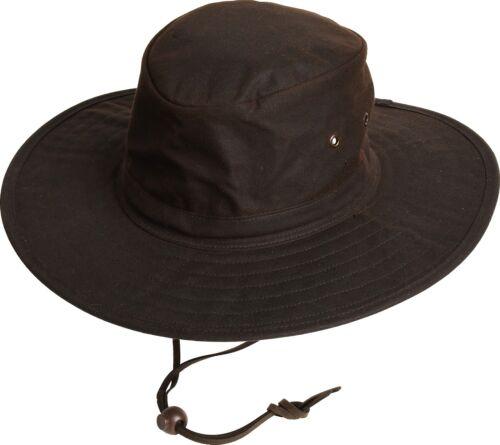 Scippis Oilskin Chapeau-Chapeau marron MOREE chapeau de cowboy western résistant aux intempéries knautschbar
