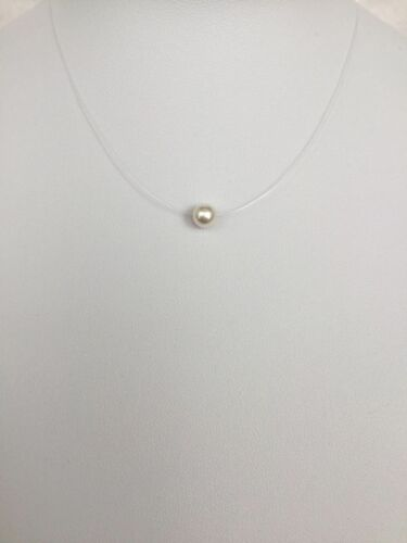 #Ch1 Made With 6mm Swarovski Pearl Floating Illusion Necklace For Children