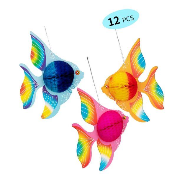90shine 12PCS Tropical Fish Party Decorations Supplies
