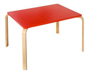 kindertisch rot kinderzimmer geschenk deko kinderm bel stabil holz lack neu ebay. Black Bedroom Furniture Sets. Home Design Ideas