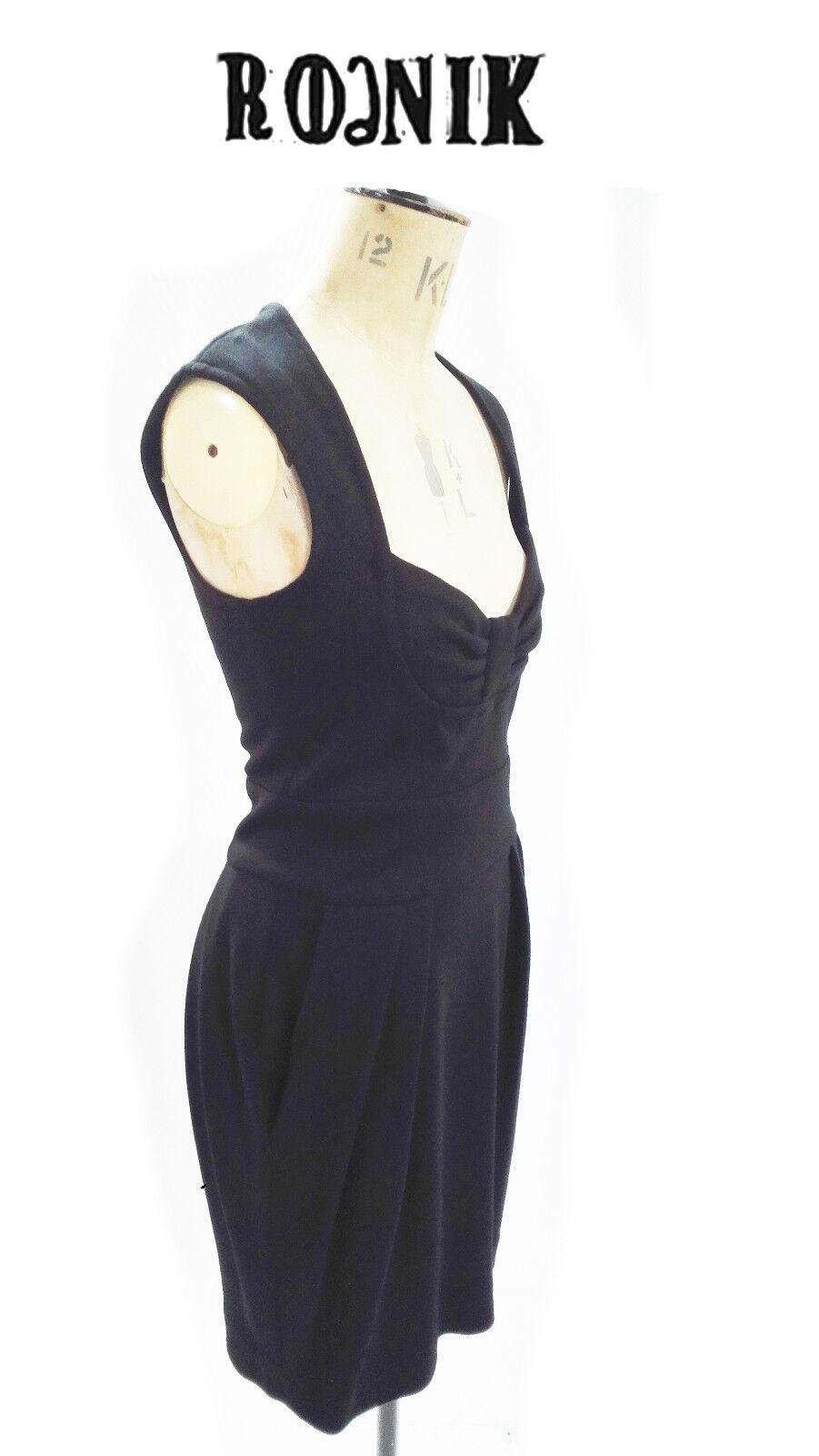 Designer Dress - Rodnik schwarz Fitted Stretch Dress with Bow Bodice Größe 10