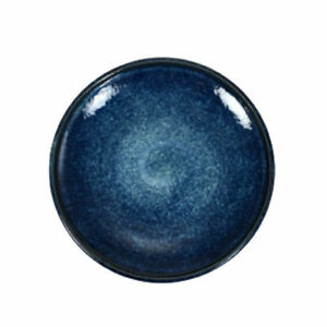 Japanese-7-5-034-D-Porcelain-Blue-Swirl-Dinnerware-Serving-Plate-Made-in-Japan