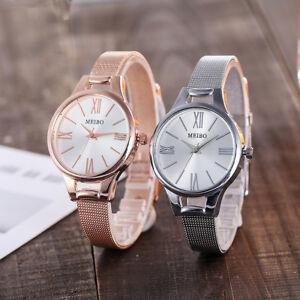 Reloj-De-Pulsera-Moda-Mujer-Acero-Inoxidable-Damas-informal-analogico-Cuarzo-Relojes