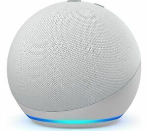 AMAZON Echo Dot (4th Gen) Smart Speaker Voice Commands Glacier White - Currys