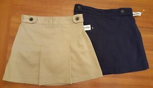 6fa349e4b NWT Old Navy Girls Uniform Skorts SKIRT / SHORTS Khaki (Rolled Oats ...