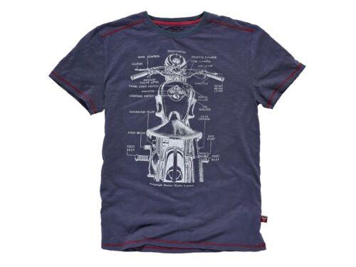 Original Triumph Motorcycles 1940`s INK Slub Shirt Kurzarmshirt Neu MTSS15045
