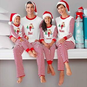 eb0eba705105 Family Matching Christmas Pajamas Set Men s Women Kids Xmas ...