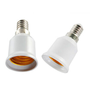10 E27 Male Plug To E14 Female Socket Base Led Light Lamp Bulb Adapter Converter Beautiful And Charming Ac/dc Adapters