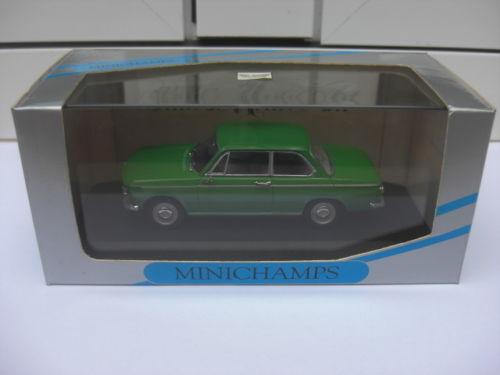 BMW 1600 1602 sedan vert Minichamps 430022102 MIB 1 43 2500 M3 3er 5er 7er RARE