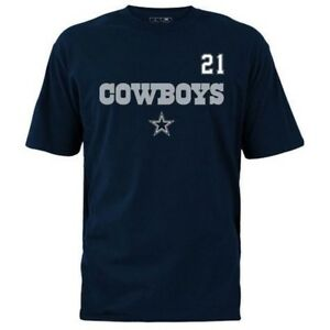 NFL Mens Dallas Cowboys Zeke Elliott Name And Number Tee Navy T ... 10e9ba291