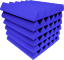 Blue-Acoustic-Foam-48-Pack-12x12x2-Wedge-Professional-Studio-Soundproofing thumbnail 2