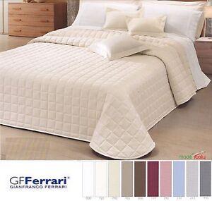 GF-FERRARI-Quilt-Copriletto-trapuntato-Trapuntino-raso-di-Cotone-INES-2000