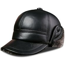 394a2dde113 item 1 Mens Real Leather Winter Fur Lined Baseball Cap Warm Thick Ear Flap Hats  Trapper -Mens Real Leather Winter Fur Lined Baseball Cap Warm Thick Ear  Flap ...