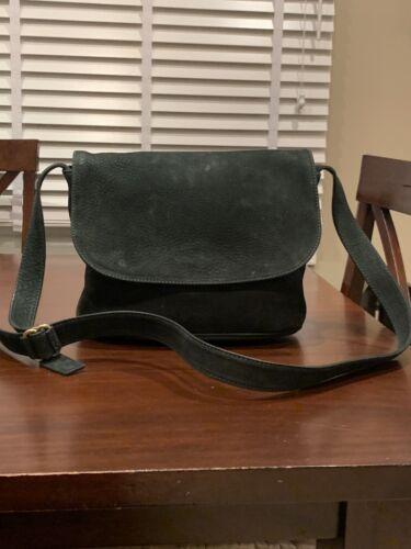 VINTAGE Coach  Dark Green Nubuck Flap Bag