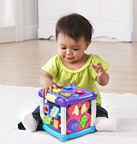 VTech Busy Learners Activity Cube Purple ONLINE EXCLUSIVE Baby Toy Play Gift