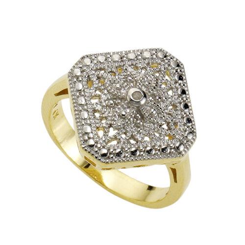 Diamonds by Ellen K Sterling Silber Diamant weiß Natürlich Damen Ring 925//