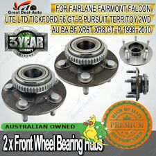 2X Front Wheel Bearing Hubs Hub for Ford Falcon AU BA BF Fairmont Territory ABS