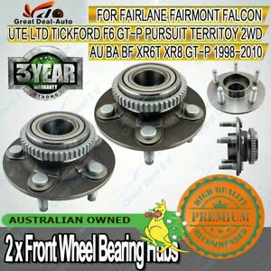 2X-Front-Wheel-Bearing-Hubs-Hub-for-Ford-Falcon-AU-BA-BF-Fairmont-Territory-ABS