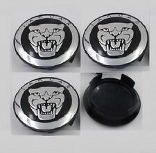 4 x BLACK Jaguar Alloy Hub Wheel Centre Caps 59MM , XF XJ XJR XJ6 X S TYPE , NEW